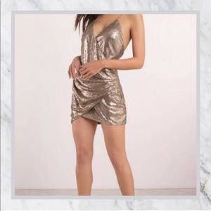 Gold mini sequin dress - TOBI